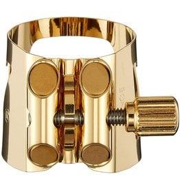 Vandoren Vandoren Optimum Ligature and Plastic Cap for V16 Baritone Saxophone; Gilded; Includes 3 Interchangeable Pressure Plates