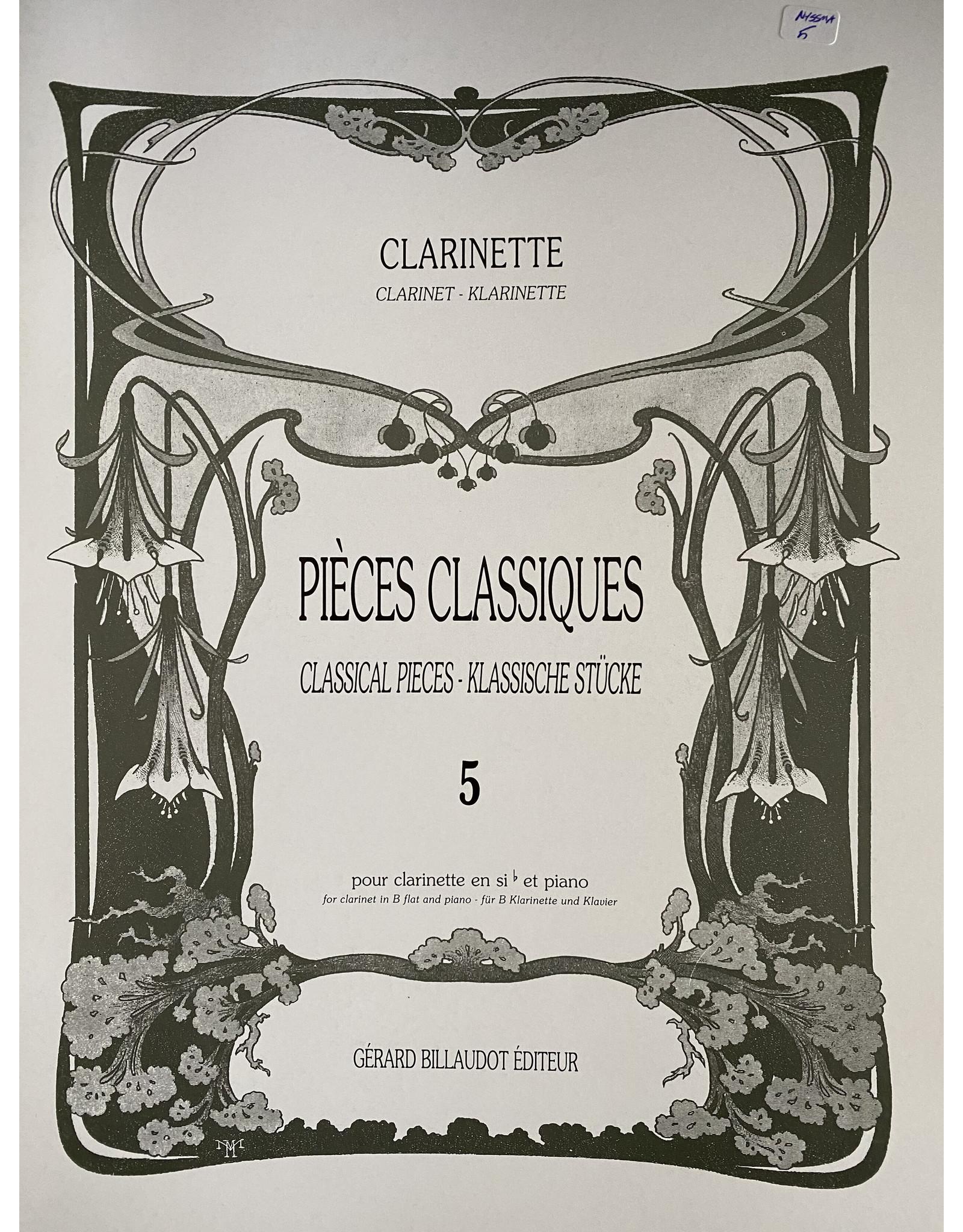 Gerard Billaudot Editeur Pieces Classiques Vol.5 Clarinet, Piano - Various
