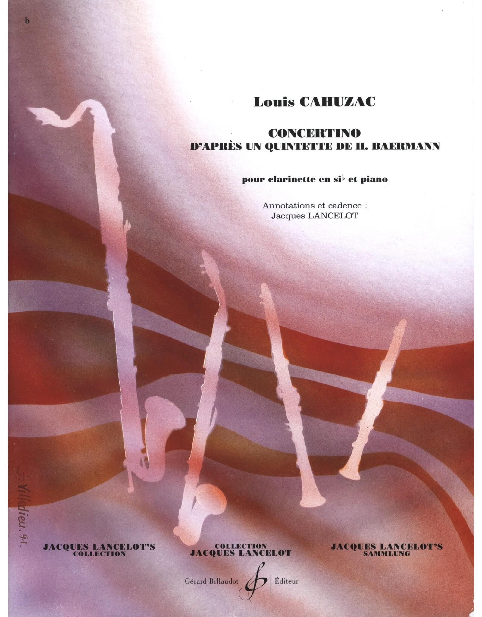 Gerard Billaudot Editeur Concertino Clarinet - Louis Cahuzac