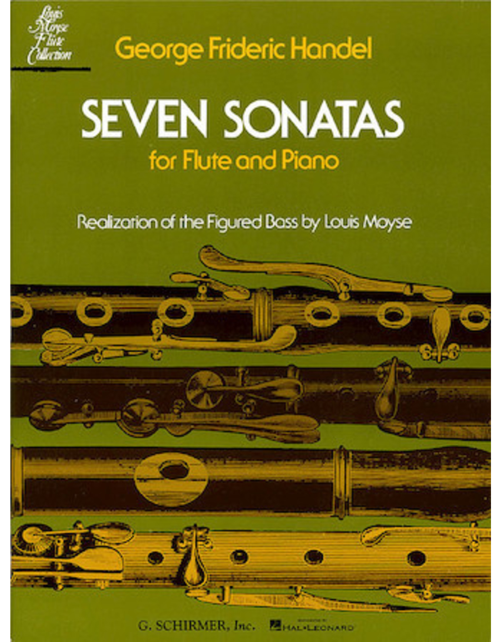 Hal Leonard Seven Sonatas for Flute & Piano arranged by Louis Moyse Woodwind Solo