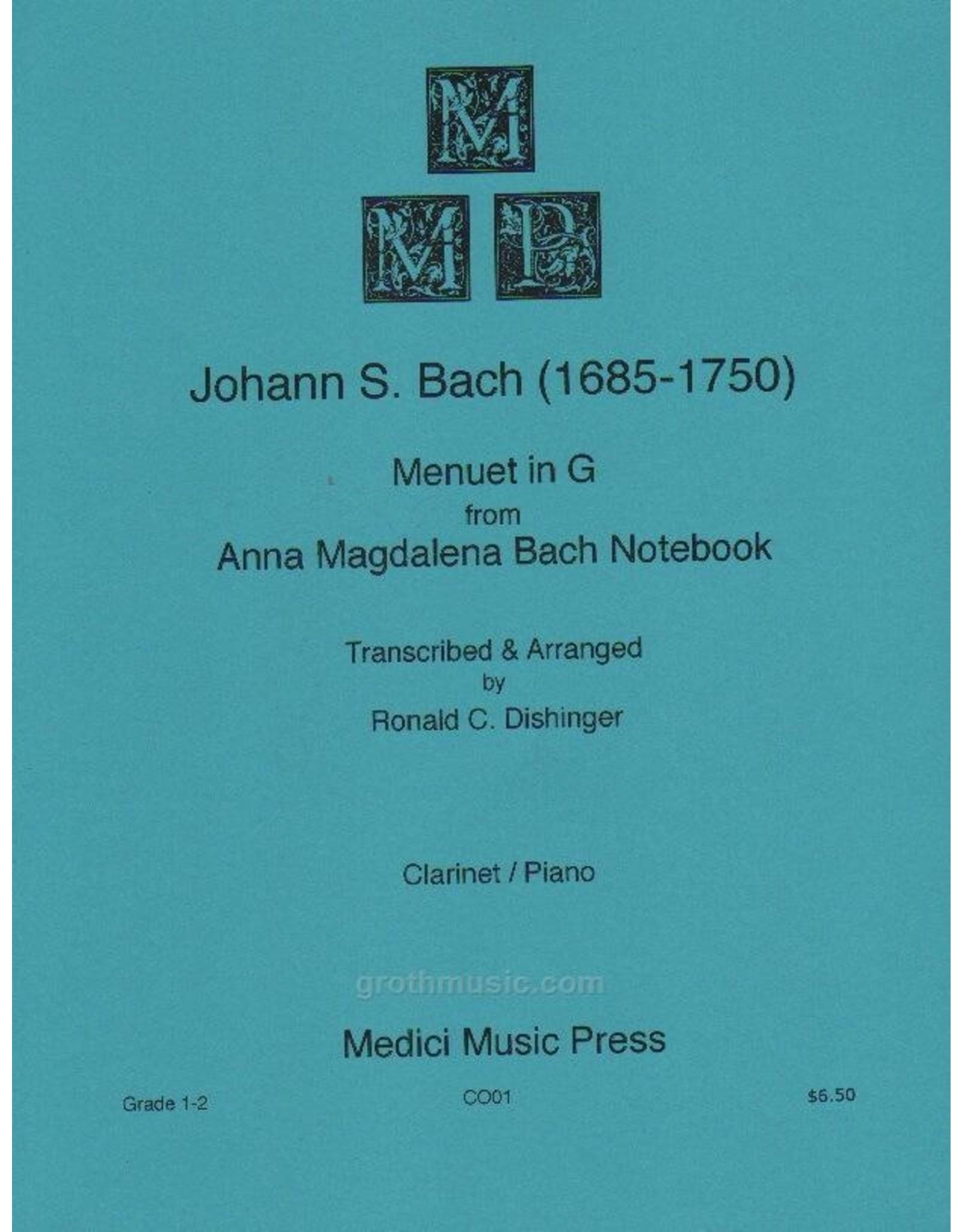 Medici Music Press Bach Menuet in G - Clarinet