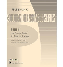 Hal Leonard Alleluja (from Exsultate, Jubilate) Bb Clarinet Solo with Piano - Grade 3.5 W.A. Mozart/arr. H. Voxman Rubank Solo/Ensemble Sheet
