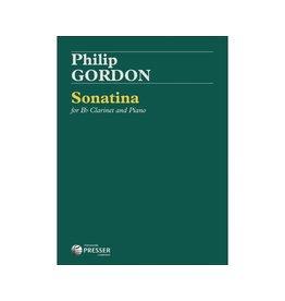 THEODORE PRESSER CO Gordon - Sonatina For B-Flat Clarinet and Piano Clarinet solo, Piano E-FLAT MAJOR
