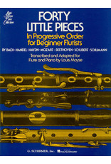 Hal Leonard Forty (40) Little Pieces for Flute & Piano In Progressive Order for Beginner Flutists transcribed and adapted by Louis Moyse Woodwind Method