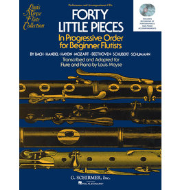 Hal Leonard 40 Little Pieces in Progressive Order for Beginner Flutists Set of Two Enhanced Performance and Accompaniment CDs ed. Louis Moyse Woodwind Solo 2 CDs
