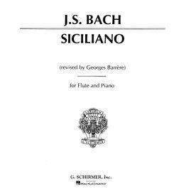 Hal Leonard Bach - Siciliano Flute and Piano (Barrere) Woodwind Solo