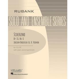 Hal Leonard Andersen - Scherzino (from Eight Performance Pieces, Op. 55) Flute Solo with Piano - Grade 3 (Andersen/Voxman) Rubank Solo/Ensemble Sheet