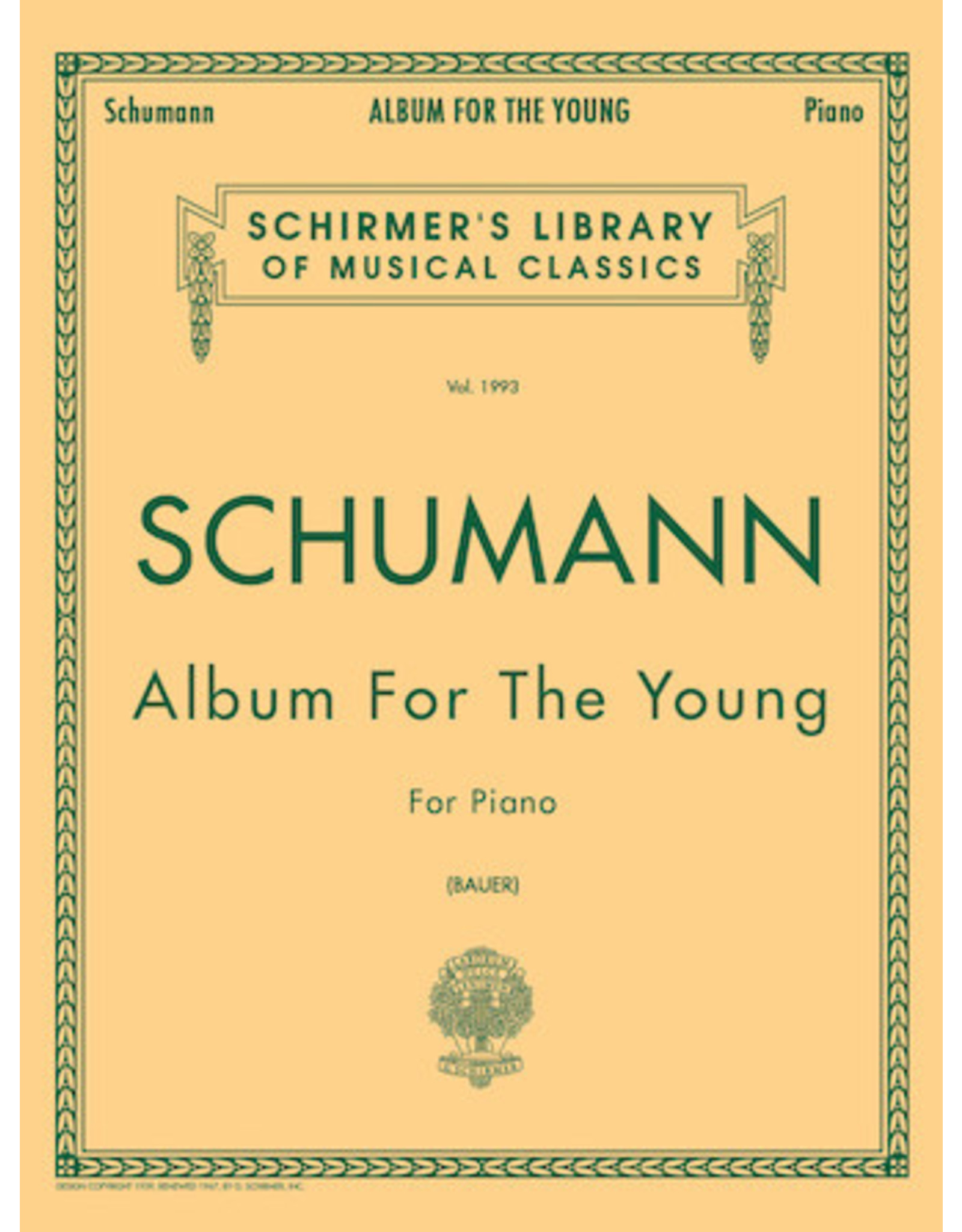 G. Schirmer, Inc. Album for the Young, Op. 68 Piano Solo Piano Collection Piano Solo