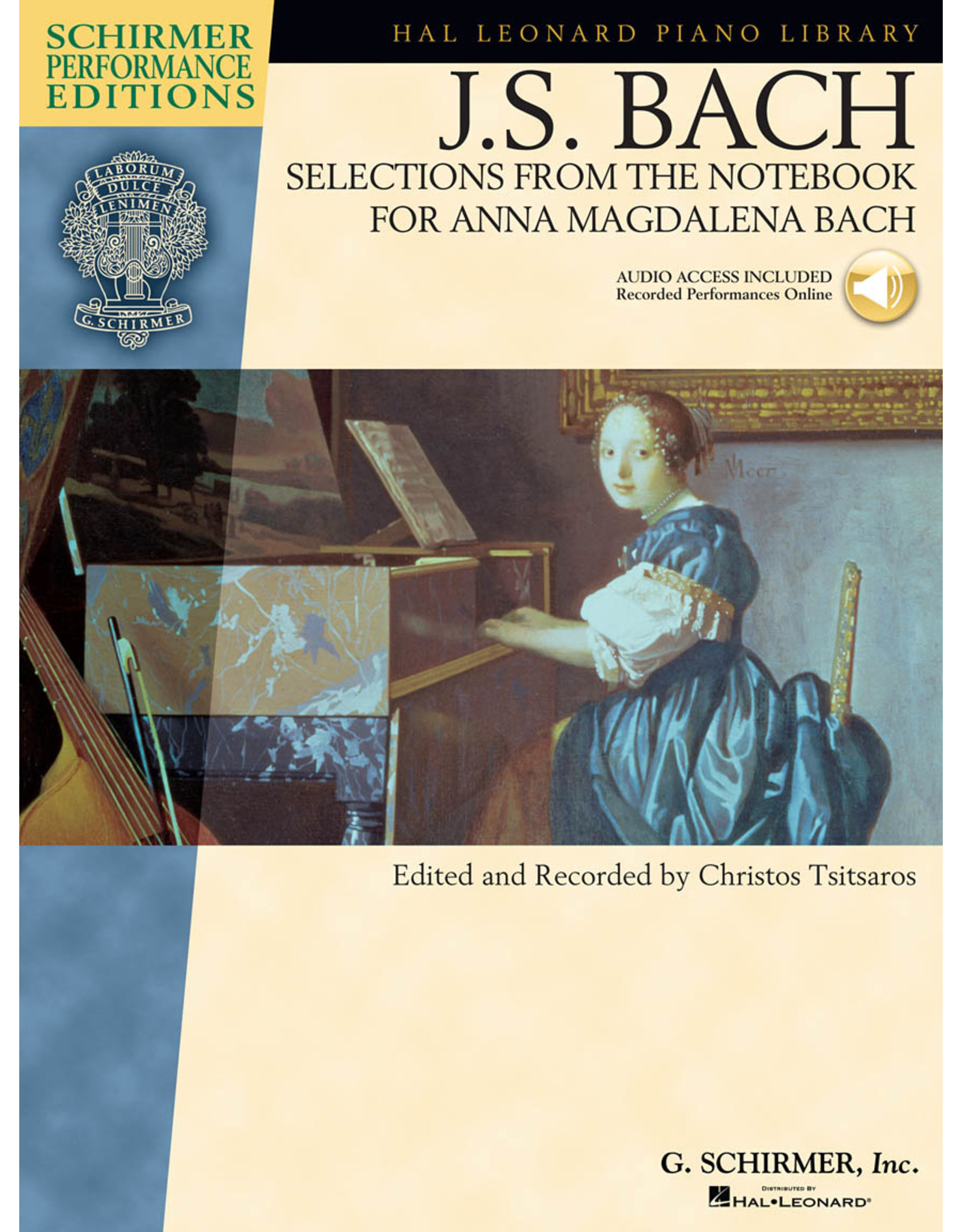 Hal Leonard J.S. Bach - Selections from The Notebook for Anna Magdalena Bach Schirmer Performance Editions edited by Christos Tsitsaros Schirmer Performance Editions