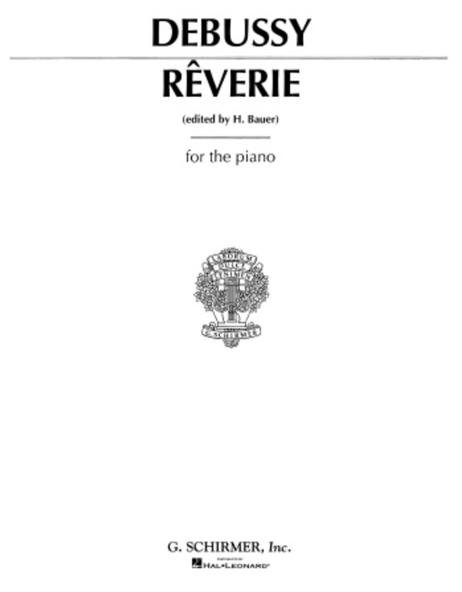 Hal Leonard Debussy - Reverie (Traumstuck) Piano Solo (Bauer)