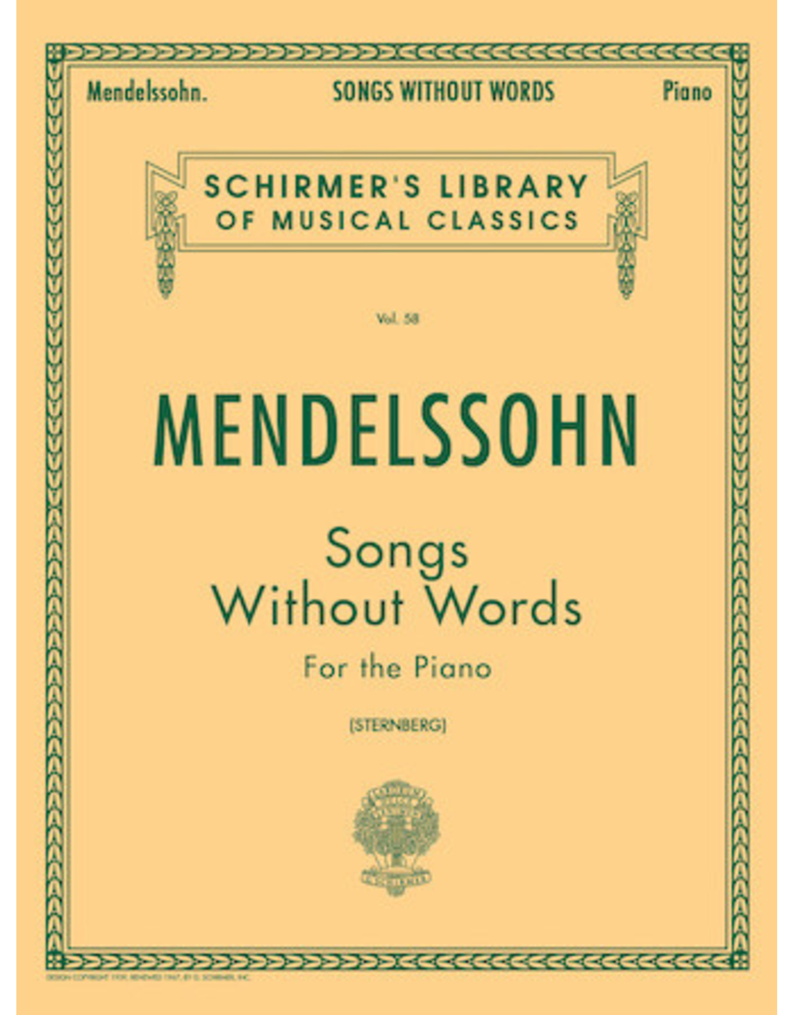 Hal Leonard Mendelssohn - Songs Without Words Piano Solo