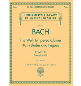 Hal Leonard Bach - The Well-Tempered Clavier, Complete Schirmer Library of Musical Classics, Volume 2057 (ed. Carl Czerny) Schirmer Library of Musical Classics, Volume 2057 Piano Collection