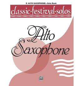 Alfred Classic Festival Solos (E-Flat Alto Saxophone), Volume 1 Solo Book