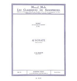 Alphonse Leduc Bach Sonata No. 4 - Alto Sax