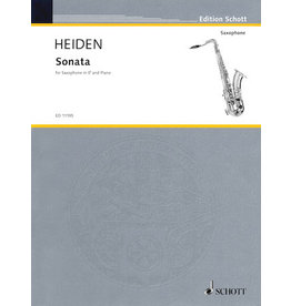 Hal Leonard Heiden - Sonata for Alto Saxophone & Piano Schott
