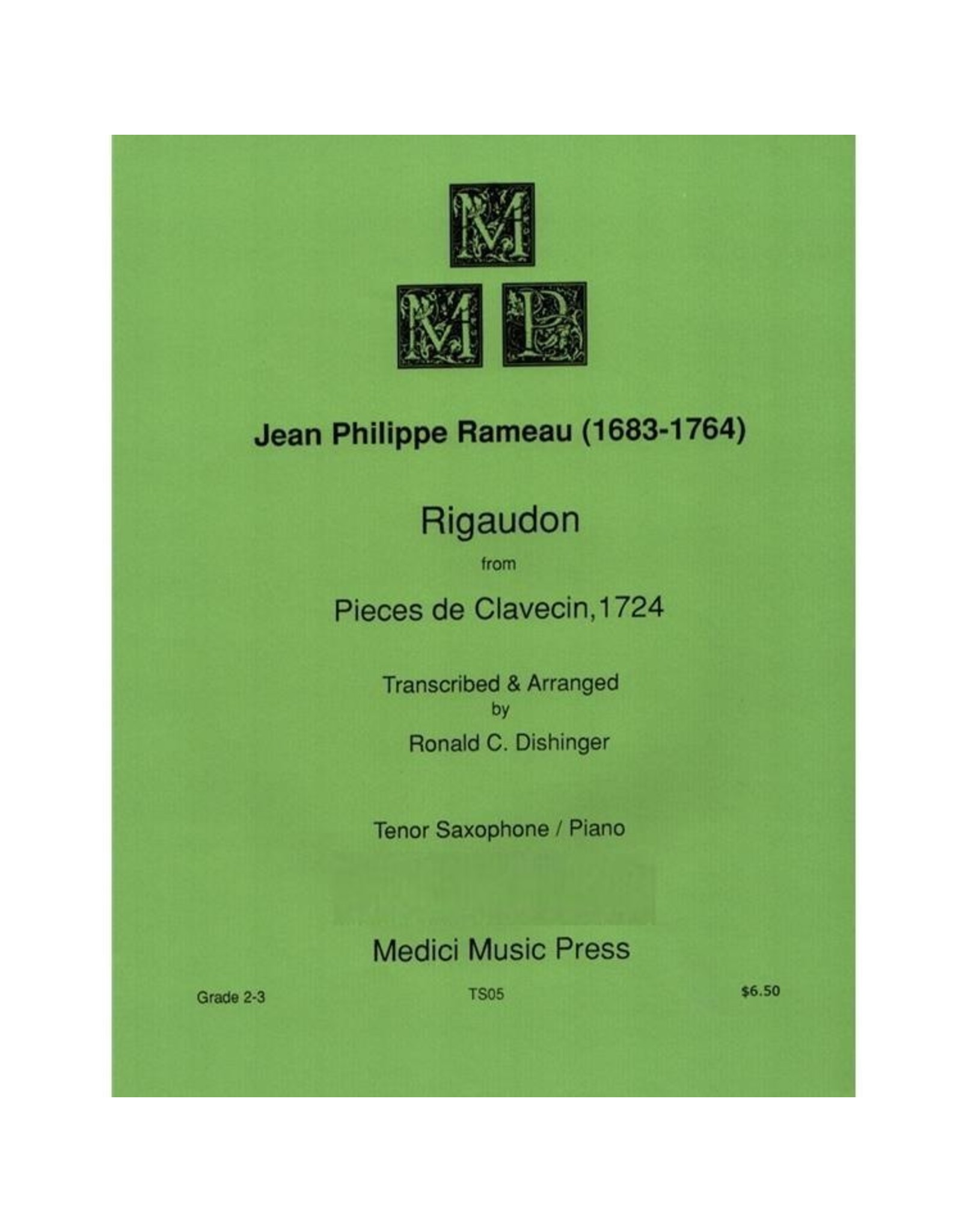 Medici Music Press Rameau - Rigaudon Tenor Sax