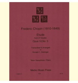 Medici Music Press Chopin - Etude Op.10 No.3 - Tenor Sax