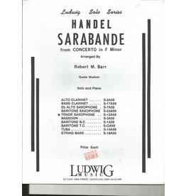 Ludwig Handel Sarabande - Tenor Sax