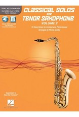 Hal Leonard Classical Solos for Tenor Saxophone, Vol. 2 15 Easy Solos for Contest and Performance arr. Philip Sparke Book/CD Packs Instrumental Folio
