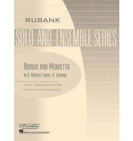 Hal Leonard Adagio and Menuetto Tenor Saxophone Solo with Piano - Grade 4 Rubank Solo/Ensemble Sheet