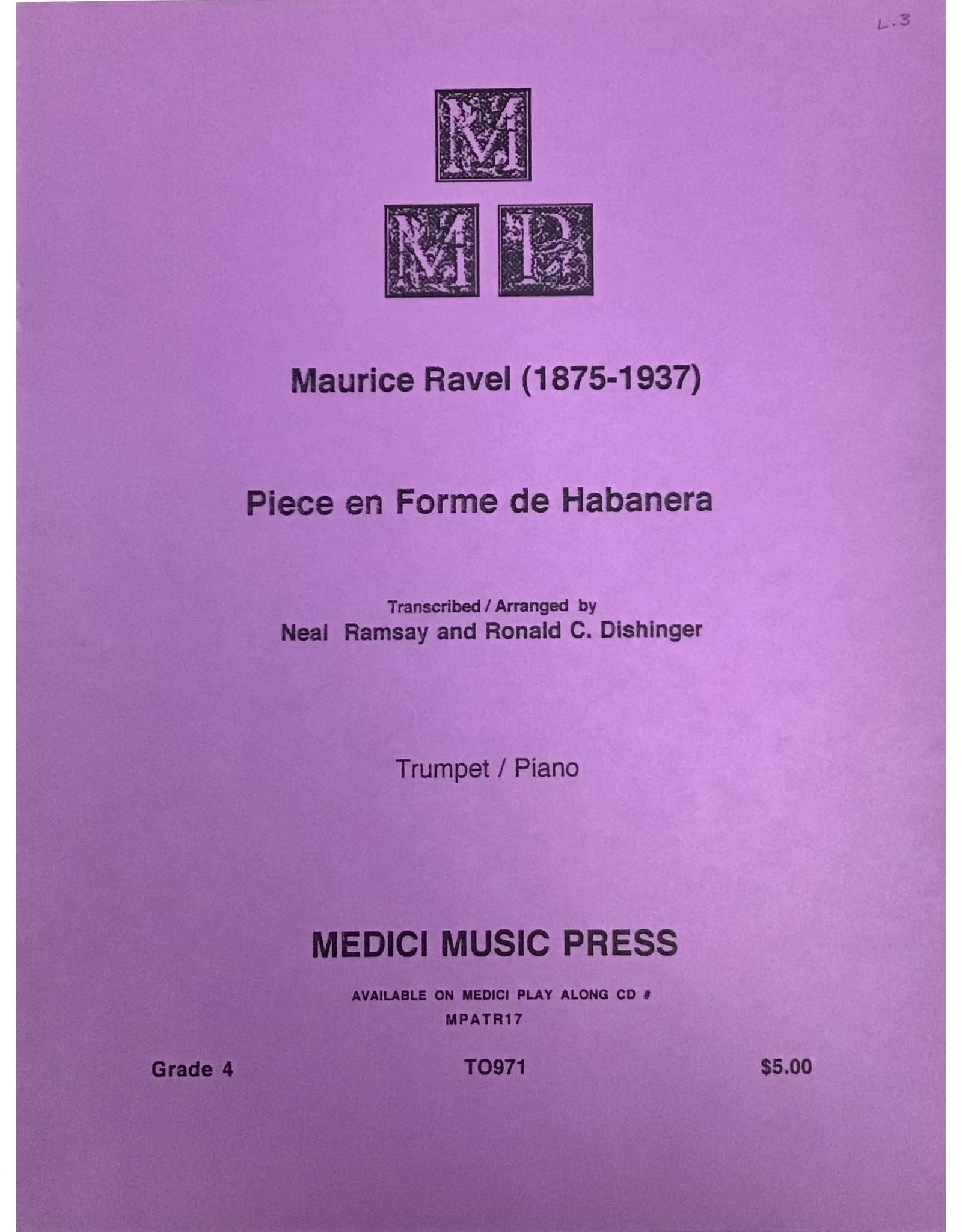 Medici Music Press Ravel - Piece en Forme de Habanera - Trumpet