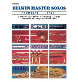 Alfred Belwin Master Solos, Volume 1 (Trombone) Easy