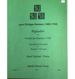 Medici Music Press Rameau Rigaudon - Bass Clarinet