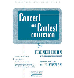 Hal Leonard Concert and Contest Collection for French Horn Solo Part Rubank Solo Collection