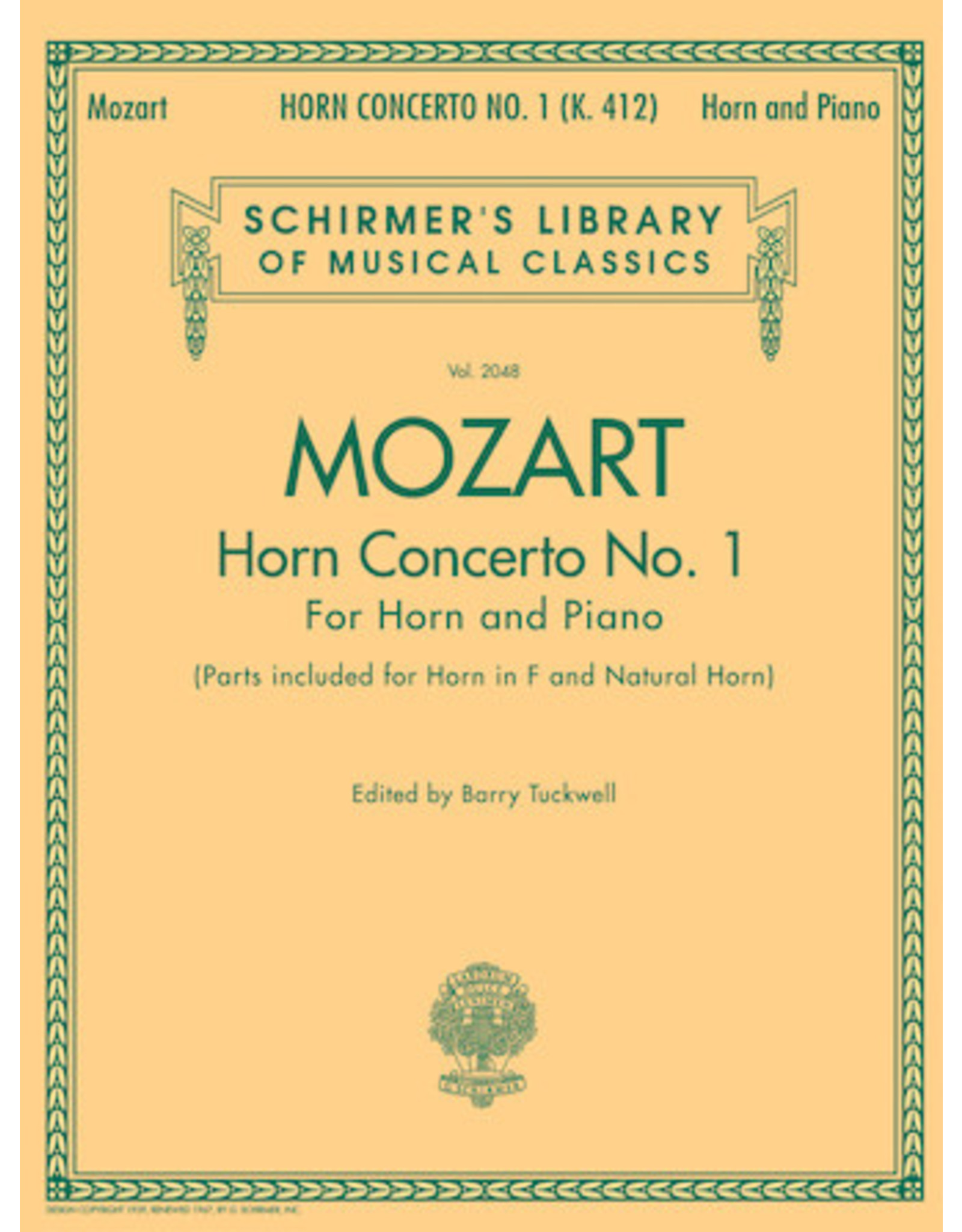 Hal Leonard Mozart - Concerto No. 1, K. 412 for Horn in F and Piano Reduction
