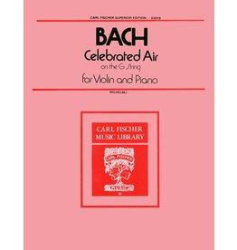 Carl Fischer LLC Bach - Celebrated Air On The G String Piano, Violin, Organ C MAJOR