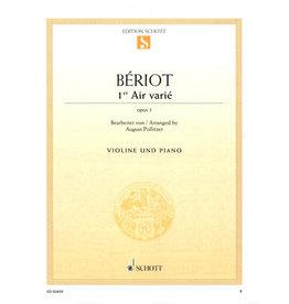 Edition Schott Beriot - Air Varie in D Minor, Op. 1 (Pollitzer) Schott