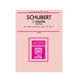 Carl Fischer LLC Schubert - L'Abeille Violin solo, Piano E MINOR - Francois Schubert Gustave Saenger