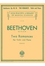 Hal Leonard Beethoven - 2 Romances, Op. 40 and 50 Violin and Piano