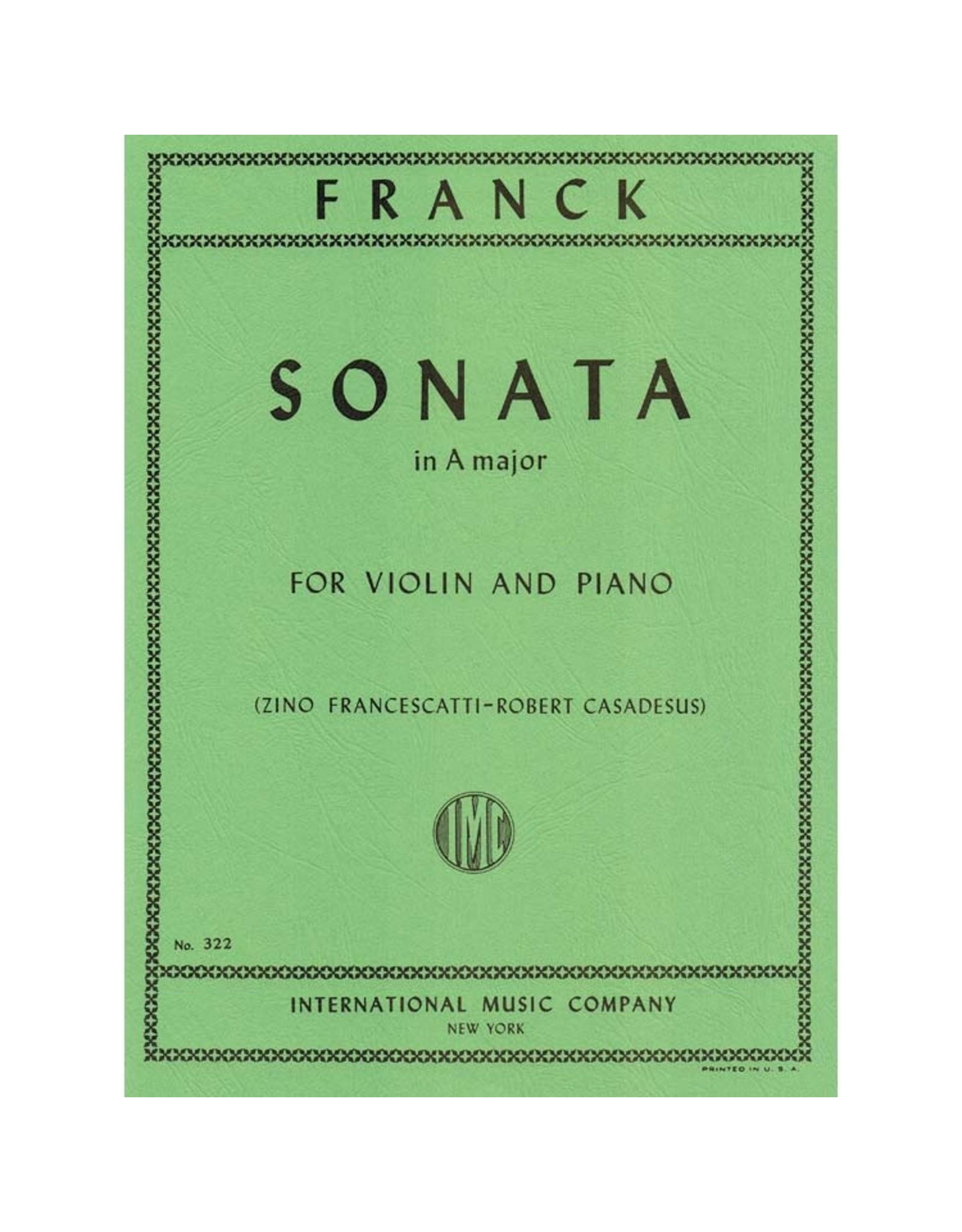 International Franck Sonata in A Major - Violin