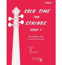 Alfred Solo Time for Strings, Book 1 Viola