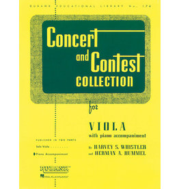 Hal Leonard Concert and Contest Collection for Viola Solo Part Rubank Solo Collection Viola - Solo Part