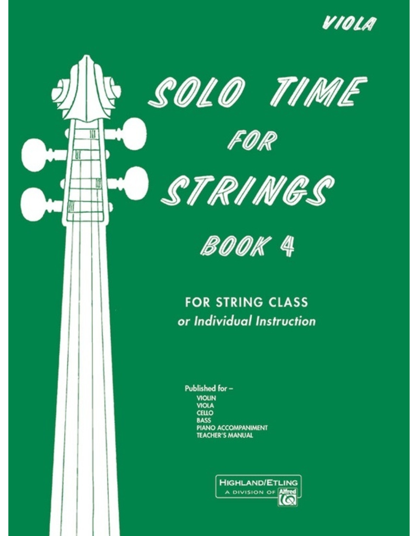 Alfred Solo Time for Strings, Book 4