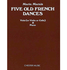 Hal Leonard Marais - Five Old French Dances for Viola and Piano Music Sales America