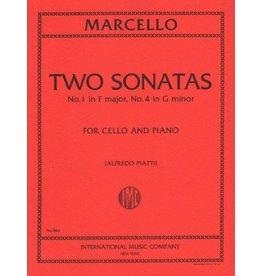 Generic Marcello 2 Sonatas (G Minor and F Major) For Cello and Piano
