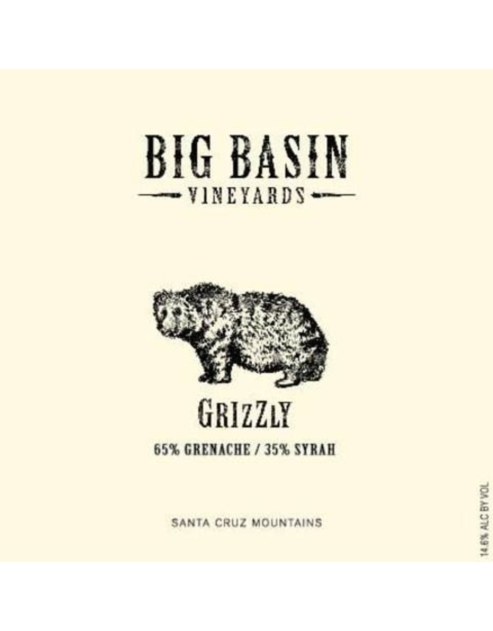 Big Basin Grizzly Grenache 2013