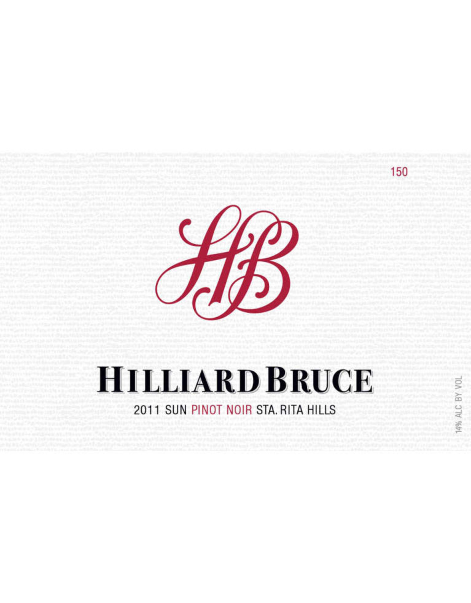 "Hilliard Bruce ""Sun"" Pinot Noir 2011"