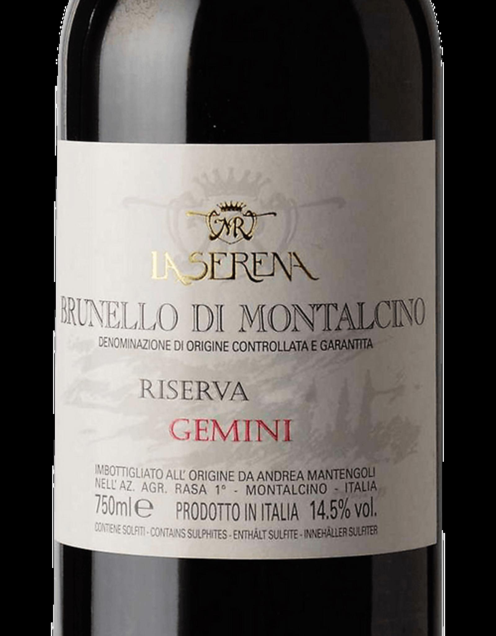 """2010 La Serena """"Gemini"""" Brunello Di Montalcino"""