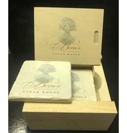 Bern's Evangeline Coasters 4 pack in Wood Box