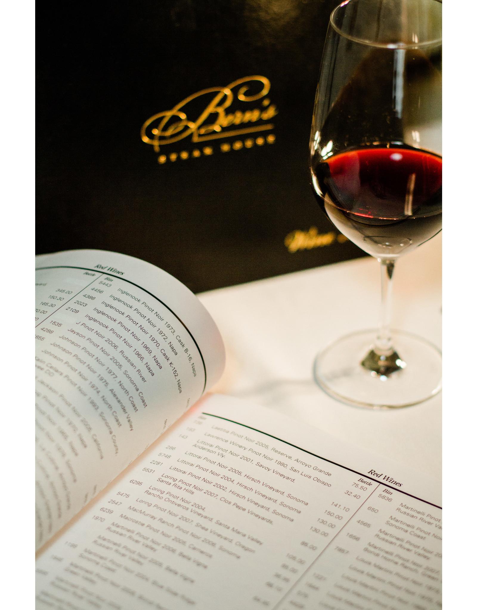 Bern's Steak House Wine List - Unbound