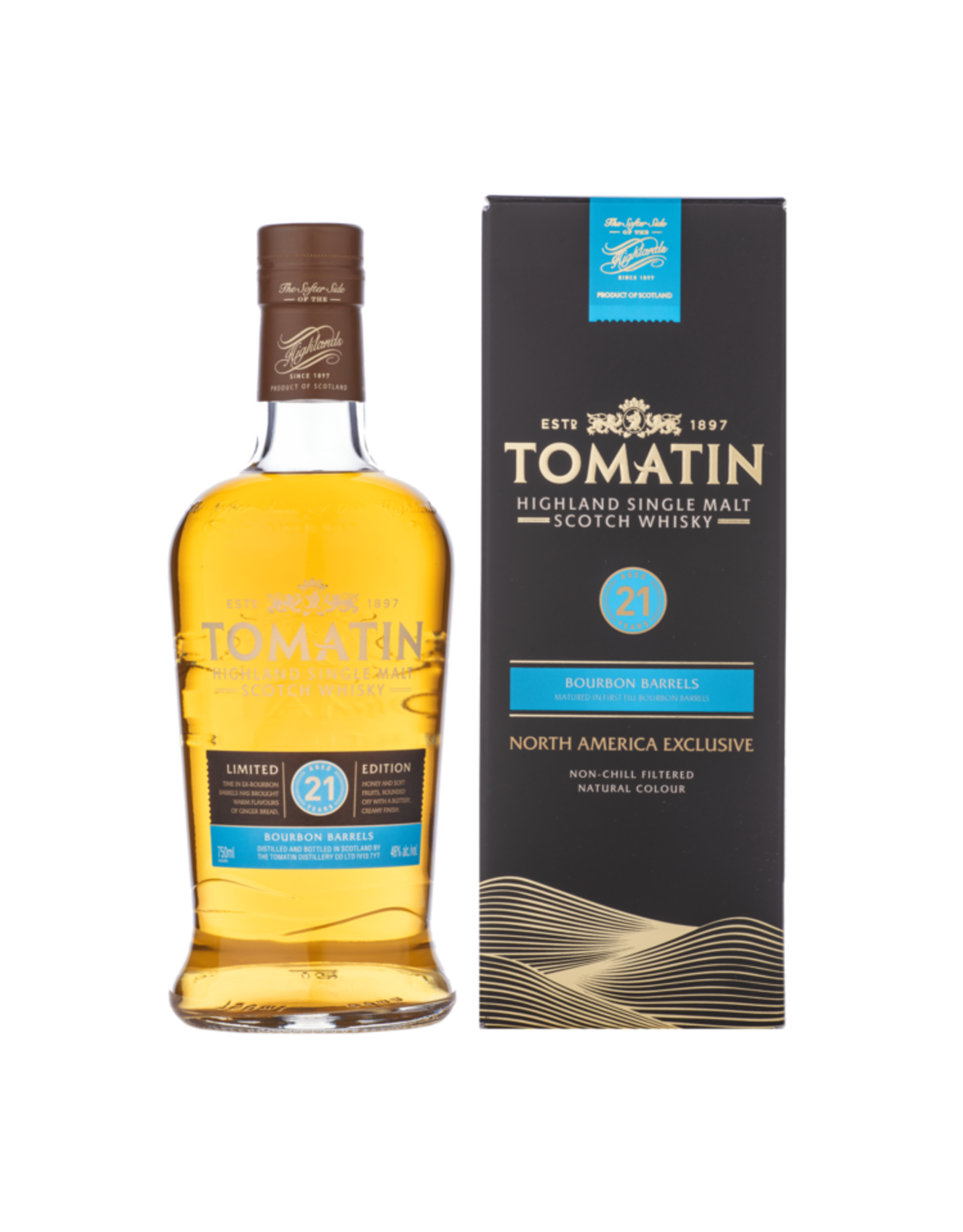 Tomatin Single Malt Scotch Whiskey 21 Year