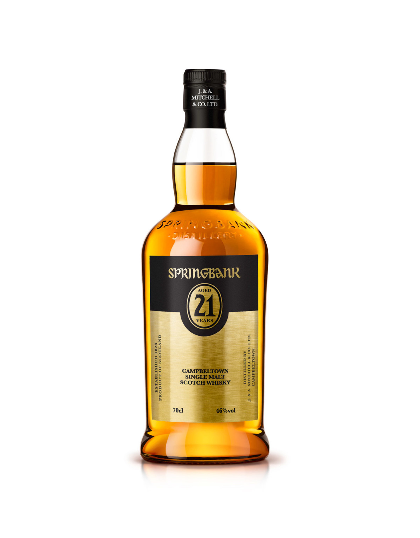 SpringBank Single Malt 21 year Campbeltown Scotch Whiskey