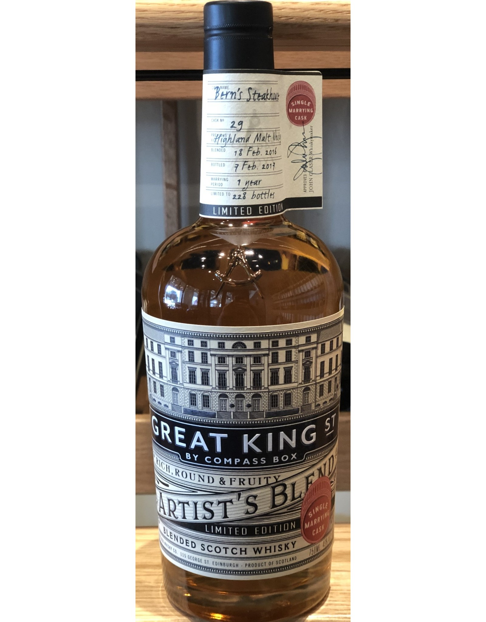 Bern's Select Great King Street Marrying Cask 2016