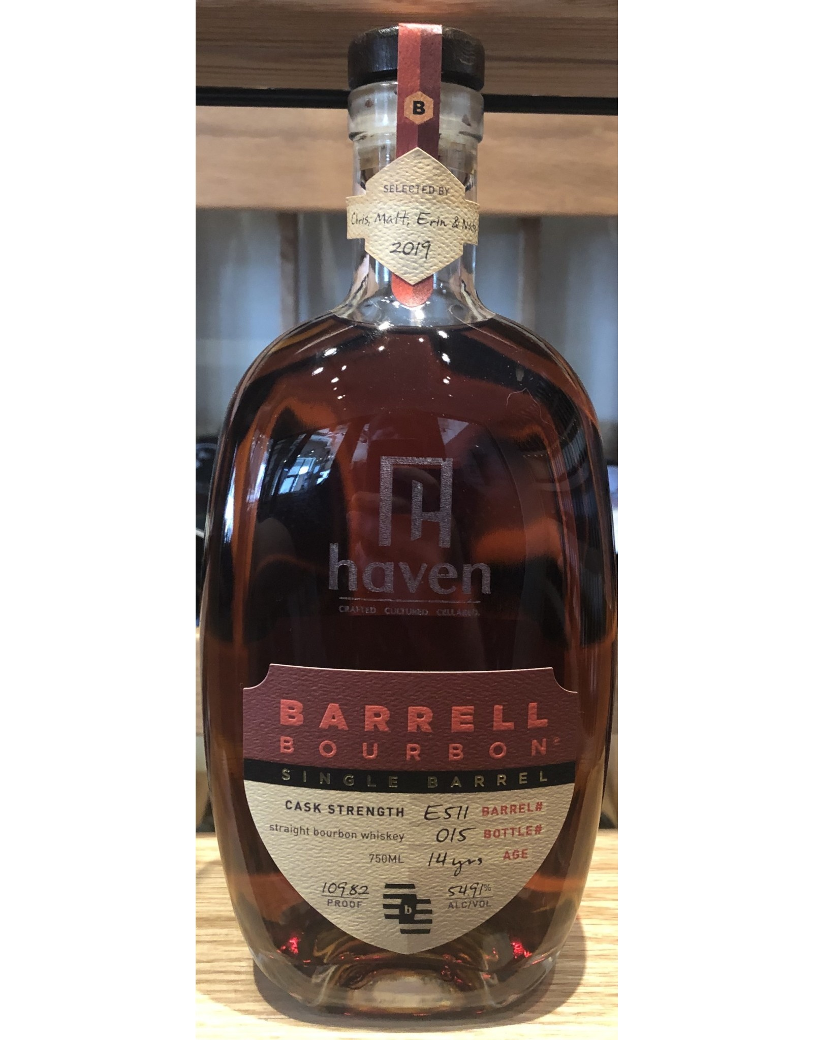 Haven Single Barrel Select Barrell Craft Bourbon 14 year B#512