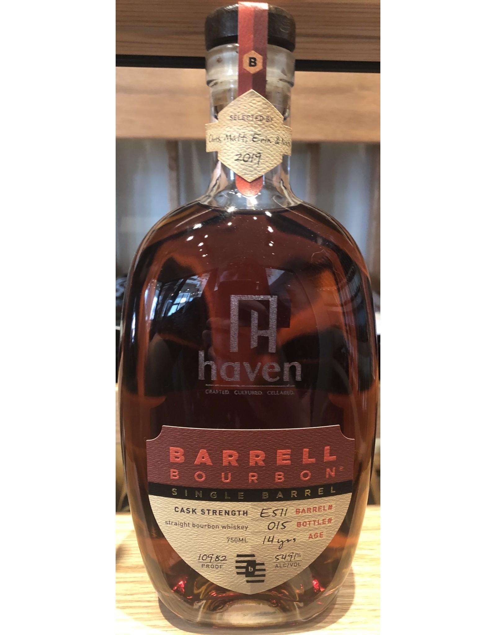 Haven Single Barrel Select Barrell Craft Bourbon 14 year B#511