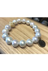 Bourbon and Bowties Baroque Pearl Bracelet